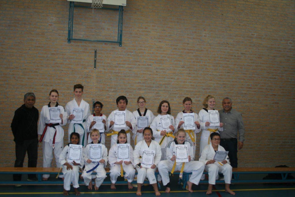 Hwarang Kups-graad examens in Geleen