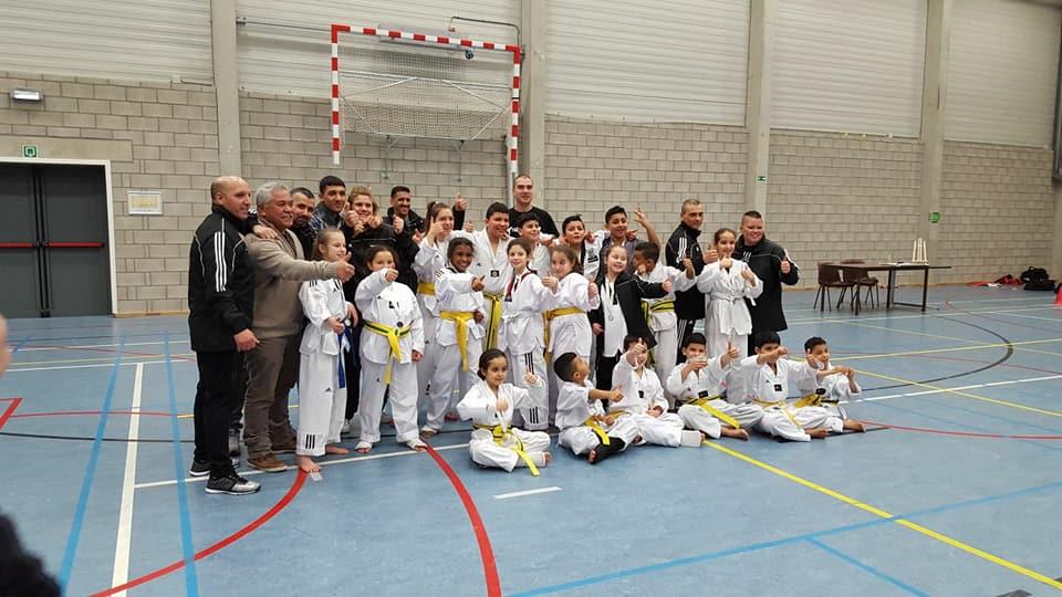 Vriendschappelijke Taekwondo wedstrijden 4 februari Dilsen-Stokkem